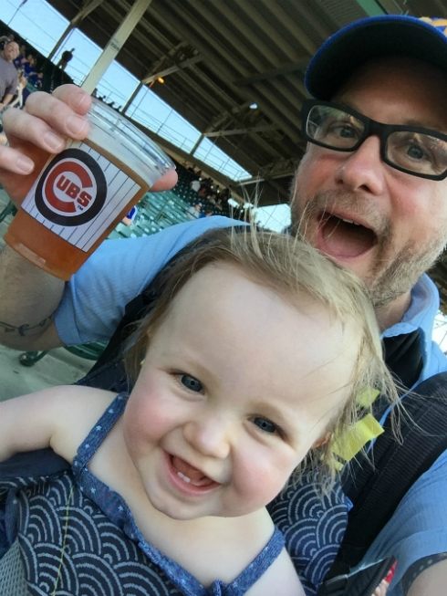 Not Sara at the Cubs game! But trust me, she was there.