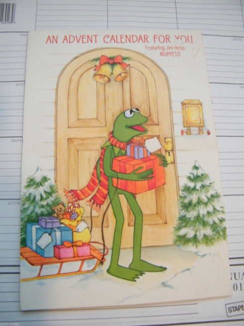 1981 Hallmark Muppets advent calendar!