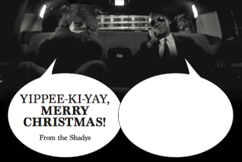 The 2016 Shady holiday card! Back-style!