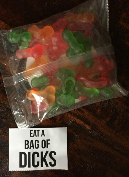 send a bag of gummy dicks