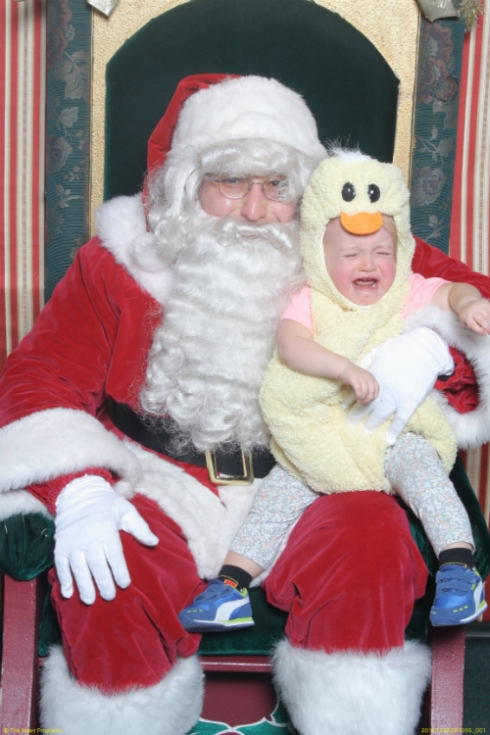 Grey hates Santa.
