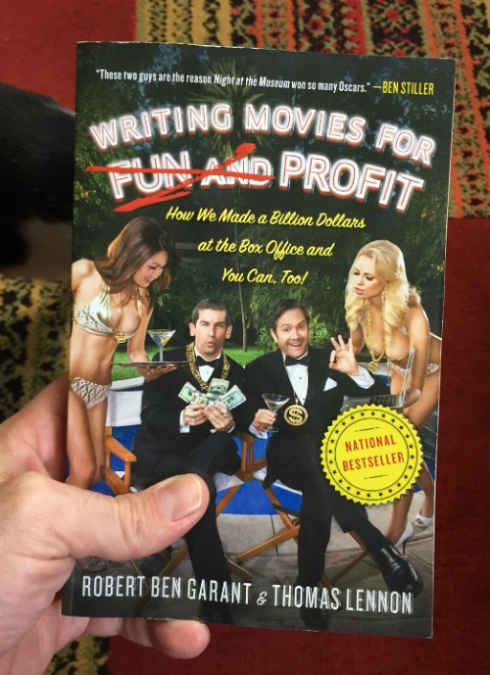 """Writing Movies for Fun and Profit"" by Thomas Lennon and Robert Ben Garant."