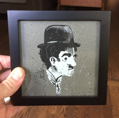 An awesome Chaplin print from Salomon.