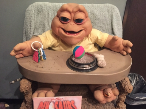 "Baby Sinclair from ""Dinosaurs."""