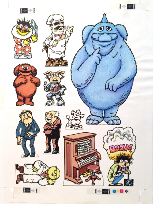 Original artwork from the 1981 Muppet Play Set by Colorforms' Shrinky Dinks.