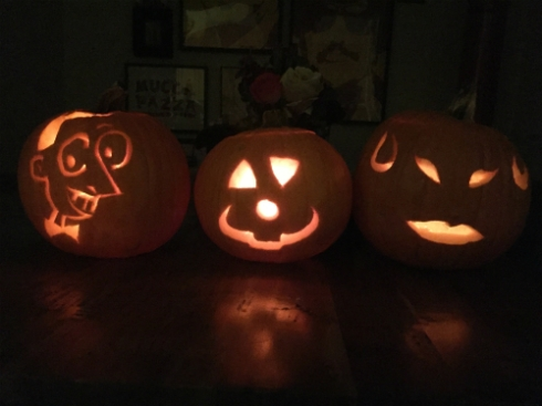 Carved pumpkins! A week late!