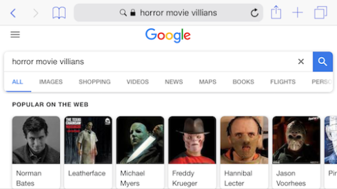 Horror movie villains like...