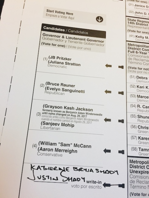 We only got one vote.