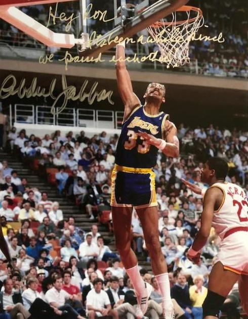 To Ron, From Kareem